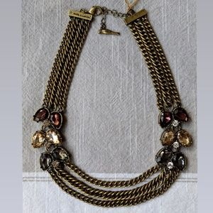 Chain & Gem Collar Statement Necklace